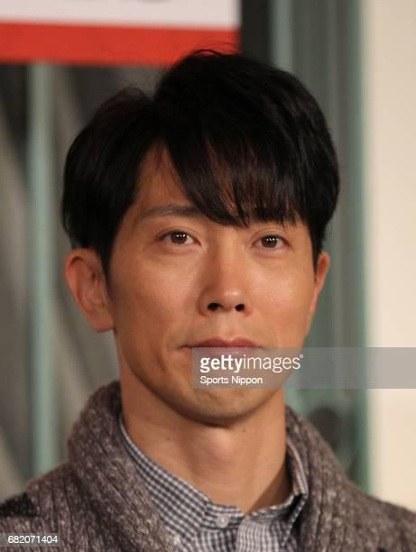 Actor Kuranosuke Sasaki attends press conference of TBS drama 'Renai Neet Wasureta Koi no Hajimekata' on January 16 2012 in Tokyo Japan