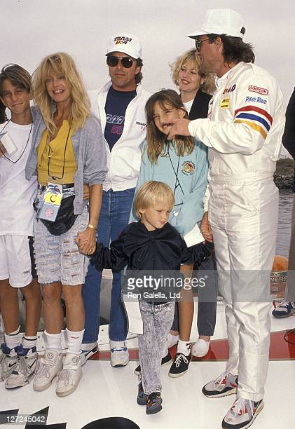 Actor Kurt Russell, actress Goldie Hawn, son Oliver Hudson, son Wyatt Russell, daughter Kate Hudson, actor Don Johnson and actress Melanie Griffith...