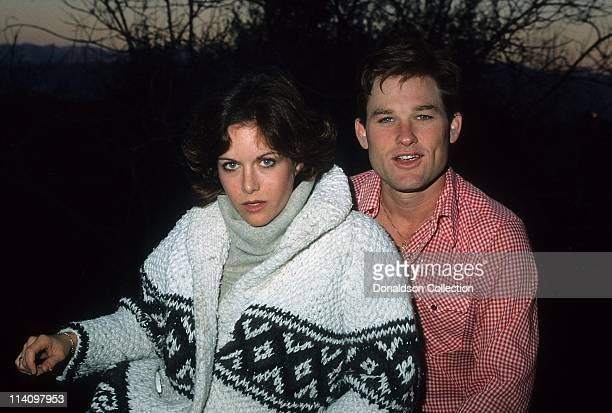 Actor Kurt Russell and Actress Season Hubley pose for a portrait in 1979 in Los Angeles California