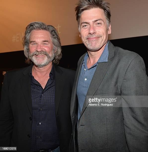 Actor Kurt Russell and EW writer Geoff Boucher attend Entertainment Weekly's CapeTown Film Festival presented by The American Cinematheque and...
