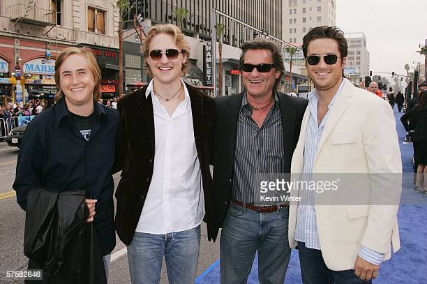 Actor Kurt Russell and his sons Wyatt Boston and Oliver attend the premiere of Warner Bros Pictures' Poseidon at Grauman's Chinese Theater on May 10...