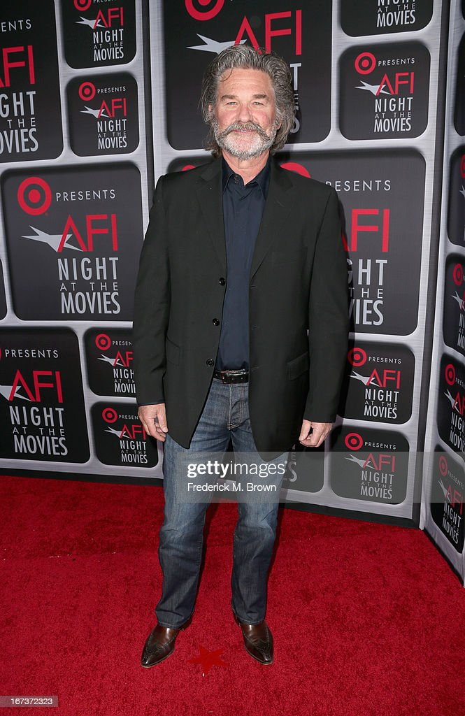 Actor Kurt Russell arrives on the red carpet for Target Presents AFI's Night at the Movies at ArcLight Cinemas on April 24, 2013 in Hollywood, California.