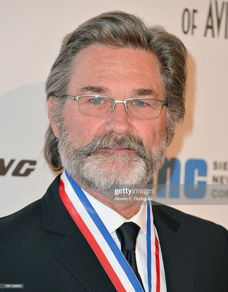 Actor Kurt Russell arrives to the 10th Annual Living Legends of Aviation Awards at The Beverly Hilton Hotel on January 18, 2013 in Beverly Hills, California.