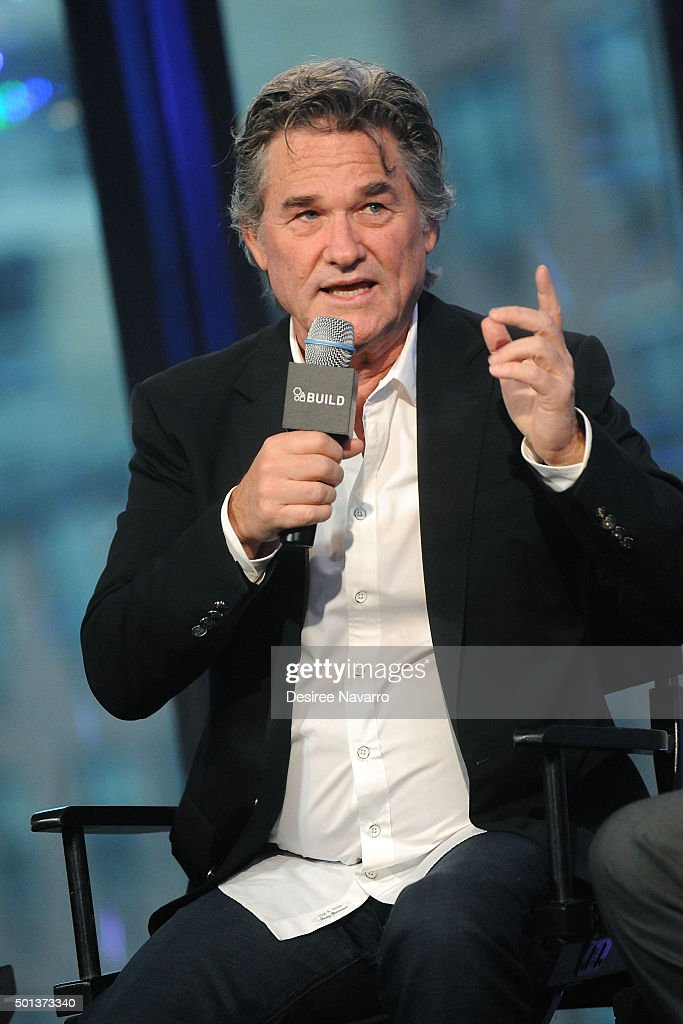 Actor Kurt Russell attends AOL BUILD Series: Kurt Russell, Walton Goggins, Tim Roth, And Demian Bichir 'The Hateful Eight' at AOL Studios In New York on December 14, 2015 in New York City.