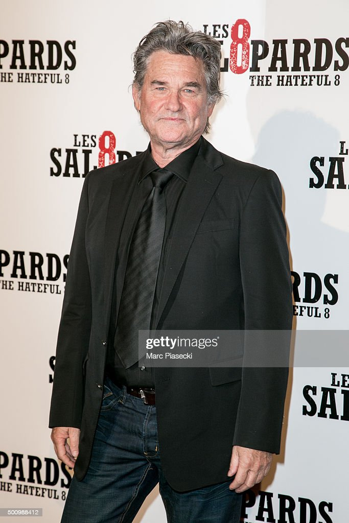 Actor Kurt Russell attends the 'The Hateful Eight' Premiere at Le Grand Rex on December 11, 2015 in Paris, France.