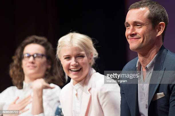 Actor Kyle Allen actress Sarah Jones and actor Hugh Dancy speaks on stage during SCAD aTVfest 2016 Day1The Path at SCADShow Perfoming Arts Theater on...