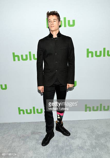 Actor Kyle Allen Mona Lisa sock detail attends the Hulu TCA Winter Press Tour Day at Langham Hotel on January 7 2017 in Pasadena California