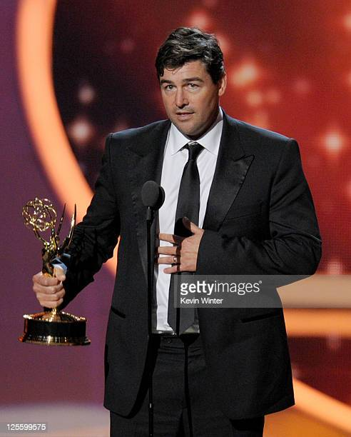 Actor Kyle Chandler accepts the Outstanding Lead Actor in a Drama Series award onstage during the 63rd Annual Primetime Emmy Awards held at Nokia...