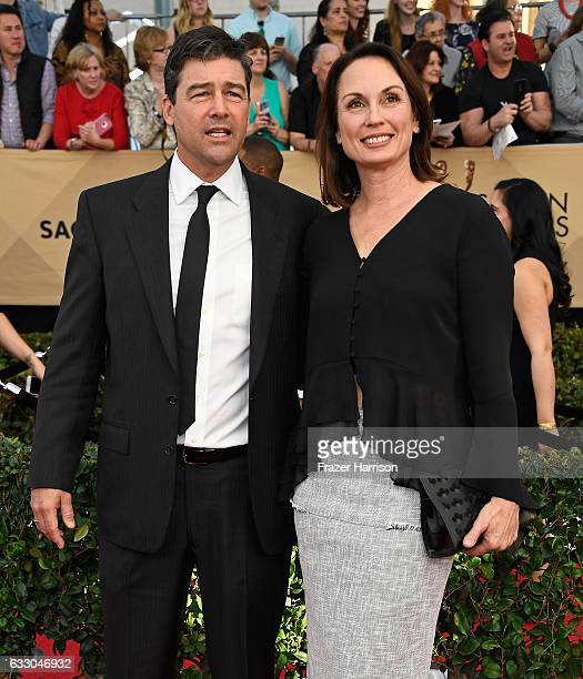 Actor Kyle Chandler and Kathryn Chandler attend The 23rd Annual Screen Actors Guild Awards at The Shrine Auditorium on January 29, 2017 in Los...