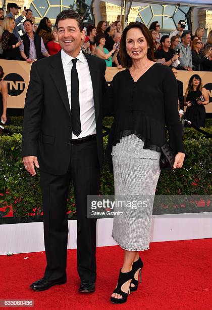 Actor Kyle Chandler and Kathryn Chandler attend the 23rd Annual Screen Actors Guild Awards at The Shrine Expo Hall on January 29 2017 in Los Angeles...