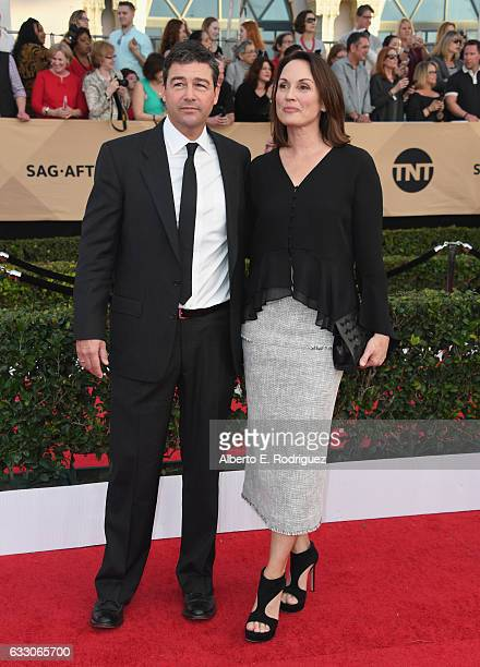 Actor Kyle Chandler and Kathryn Chandler attend the 23rd Annual Screen Actors Guild Awards at The Shrine Expo Hall on January 29, 2017 in Los...