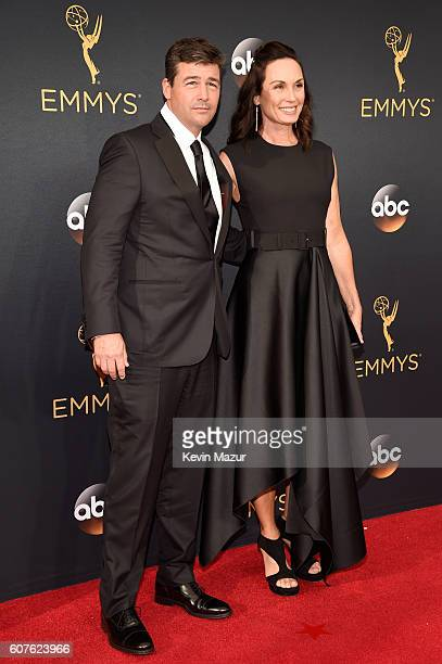 Actor Kyle Chandler and Kathryn Chandler attend the 68th Annual Primetime Emmy Awards at Microsoft Theater on September 18, 2016 in Los Angeles,...