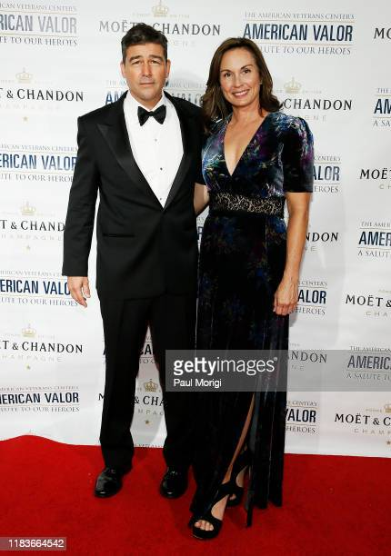 Actor Kyle Chandler and Kathryn Chandler attend the American Veterans Center's 2019 American Valor A Salute to Our Heroes Veterans Day Special at the...