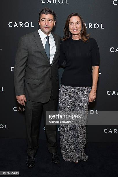 "Actor Kyle Chandler and Kathryn Chandler attend the ""Carol"" New York premiere at Museum of Modern Art on November 16, 2015 in New York City."