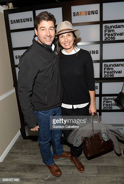 Actor Kyle Chandler and Kathryn Chandler attend The Samsung Studio At Sundance Festival 2016 on January 23 2016 in Park City Utah