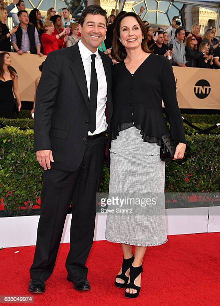 Actor Kyle Chandler and Kathryn Chandler attends the 23rd Annual Screen Actors Guild Awards at The Shrine Expo Hall on January 29 2017 in Los Angeles...