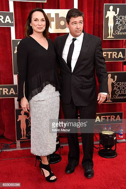 Actor Kyle Chandler and Kathryn Chandler attends The 23rd Annual Screen Actors Guild Awards at The Shrine Auditorium on January 29 2017 in Los...