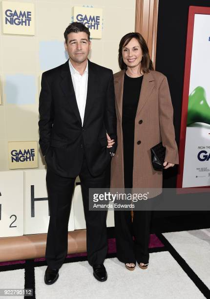 Actor Kyle Chandler and screenwriter Kathryn Chandler arrive at New Line Cinema and Warner Bros Pictures' Game Night Premiere at the TCL Chinese...
