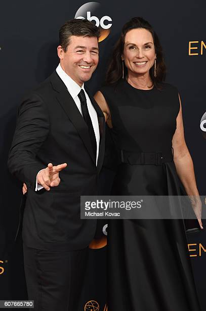 Actor Kyle Chandler and screenwriter Kathryn Chandler attend 68th Annual Primetime Emmy Awards at Microsoft Theater on September 18, 2016 in Los...