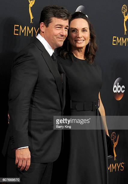 Actor Kyle Chandler and screenwriter Kathryn Chandler attend the 68th Primetime Emmy Awards at Microsoft Theater on September 18, 2016 in Los...