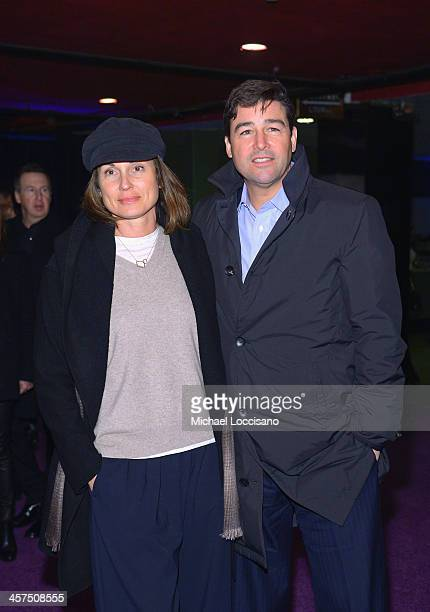 Actor Kyle Chandler and wife Kathryn Chandler attend the The Wolf Of Wall Street premiere after party at Roseland Ballroom on December 17 2013 in New...