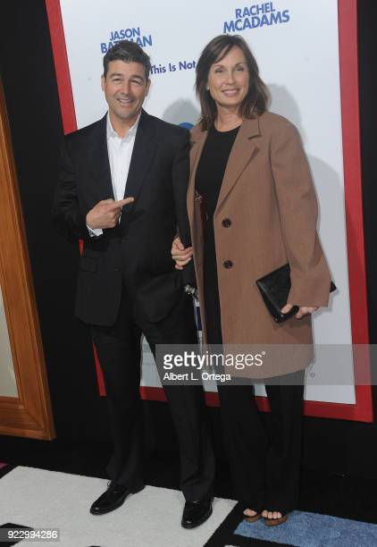 Actor Kyle Chandler and wife/screenwriter Kathryn Chandler arrive for the Premiere Of New Line Cinema And Warner Bros Pictures' Game Night held at...