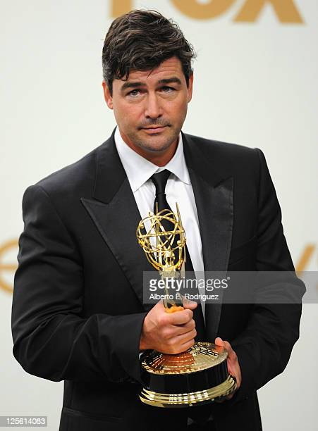 Actor Kyle Chandler poses in the press room during the 63rd Annual Primetime Emmy Awards held at Nokia Theatre LA LIVE on September 18 2011 in Los...