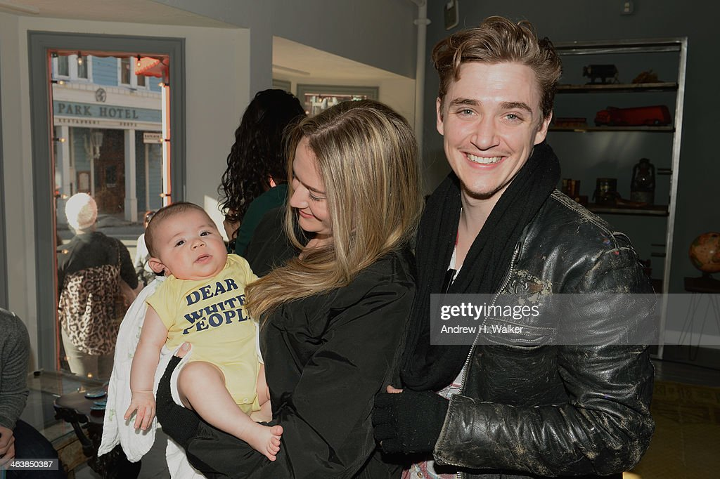 Actor Kyle Gallner (R) with family attend the YouTube 'Dear White People' Reception on January 20, 2014 in Park City, Utah.