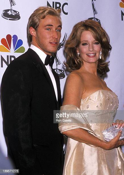 Actor Kyle Lowder and actress Deidre Hall attend the 28th Annual Daytime Emmy Awards on May 18 2001 at Radio City Music Hall in New York City