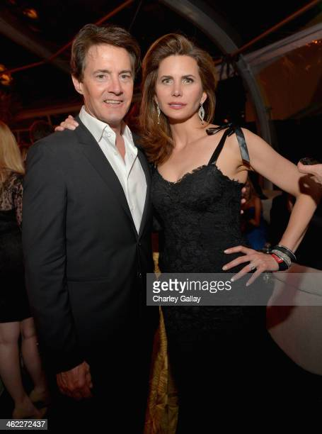 Actor Kyle MacLachlan and Desiree Gruber attend The Weinstein Company Netflix's 2014 Golden Globes After Party presented by Bombardier FIJI Water...