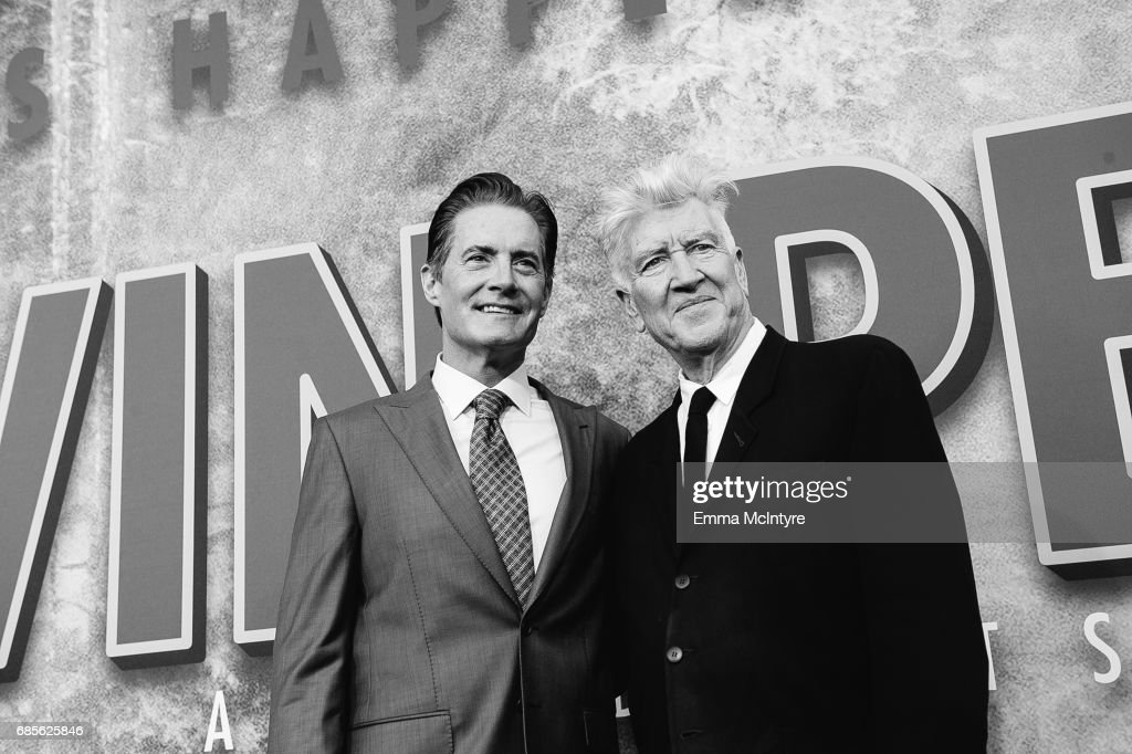 Actor Kyle MacLachlan (L) and director David Lynch attend the premiere of Showtime's 'Twin Peaks' at The Theatre at Ace Hotel on May 19, 2017 in Los Angeles, California.