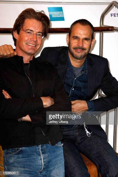 Actor Kyle MacLachlan and Director Douglas Keeve pose for an image prior to the screening of 'Hotel Gramercy Park' at the 7th Annual Tribeca Film...