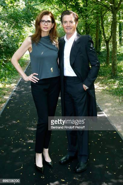 Actor Kyle MacLachlan and his wife Desiree Gruber attend the Balenciaga Menswear Spring/Summer 2018 show as part of Paris Fashion Week on June 21...
