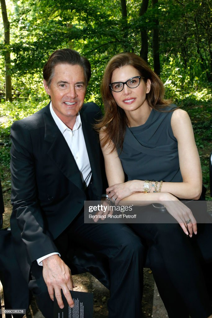 Actor Kyle MacLachlan and his wife Desiree Gruber attend the Balenciaga : Menswear Spring/Summer 2018 show as part of Paris Fashion Week on June 21, 2017 in 'Bois de Boulogne', Paris, France.