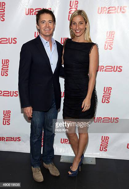 Actor Kyle MacLachlan and Olympic swimmer Kim Vandenberg attend the 2nd Annual Up2Us Gala at MercedesBenz Manhattan on May 14 2014 in New York City