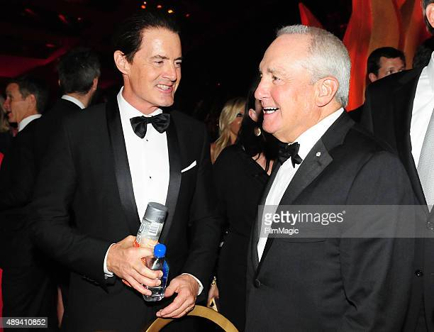 Actor Kyle MacLachlan and producer Lorne Michaels attends HBO's Official 2015 Emmy After Party at The Plaza at the Pacific Design Center on September...