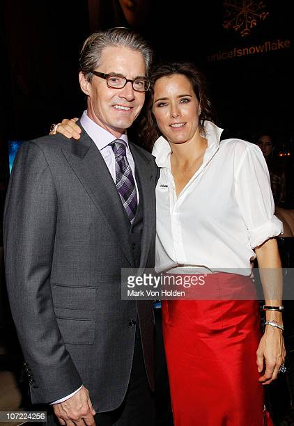 Actor Kyle MacLachlan and Tea Leoni attend the 7th Annual UNICEF Snowflake Ball at Cipriani 42nd Street on November 30 2010 in New York City