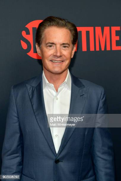 Actor Kyle MacLachlan arrives for the Showtime Golden Globe Nominees Celebration at Sunset Tower on January 6 2018 in Los Angeles California