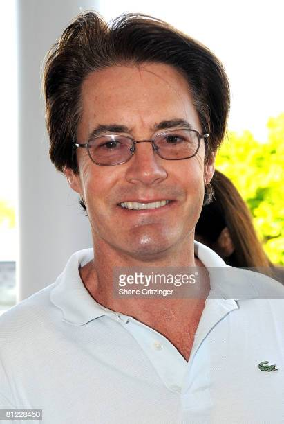 Actor Kyle MacLachlan attends the Annual Hamptons Magazine Memorial Day Celebration with Cover Star Kim Cattrall on May 24 2008 in Southampton New...