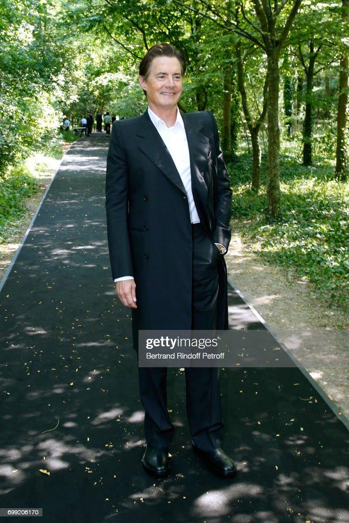 Actor Kyle MacLachlan attends the Balenciaga : Menswear Spring/Summer 2018 show as part of Paris Fashion Week on June 21, 2017 in 'Bois de Boulogne', Paris, France.