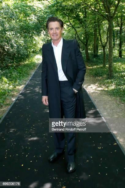 Actor Kyle MacLachlan attends the Balenciaga Menswear Spring/Summer 2018 show as part of Paris Fashion Week on June 21 2017 in 'Bois de Boulogne'...