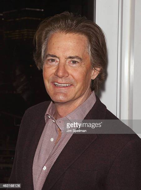 """Actor Kyle MacLachlan attends The Cinema Society and Brooks Brothers host a screening of """"The Rewrite"""" after party at The Jimmy at the James Hotel on..."""