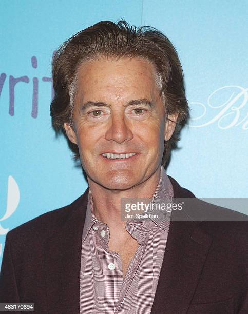 """Actor Kyle MacLachlan attends The Cinema Society and Brooks Brothers host a screening of """"The Rewrite"""" at Landmark's Sunshine Cinema on February 10,..."""