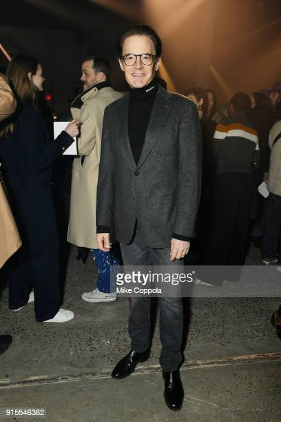 Actor Kyle MacLachlan attends the Raf Simons runway show during New York Fashion Week Mens' on February 7 2018 in New York City