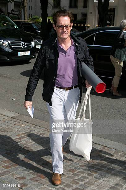 Actor Kyle MacLachlan is seen on April 20 2016 in Paris France