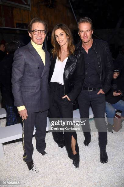 Actor Kyle MacLachlan model Cindy Crawford and Rande Gerber attend the Calvin Klein Collection front row during New York Fashion Week at New York...
