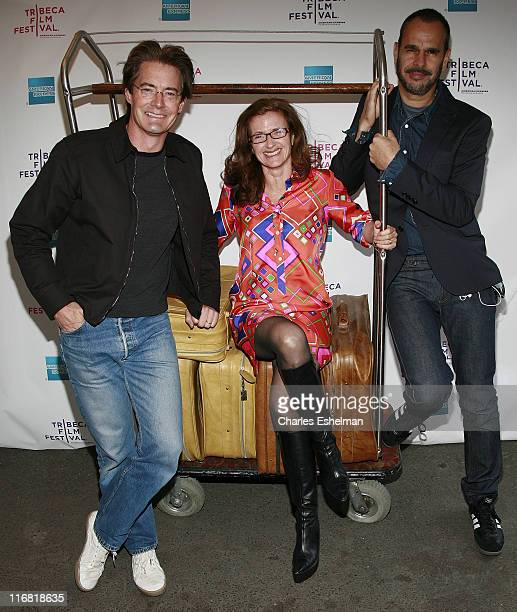 Actor Kyle MacLachlan Pproducer Wendy Ettinger and director Douglas Keeve arrive at the Premiere Of 'Hotel Gramercy Park' At The 2008 Tribeca Film...