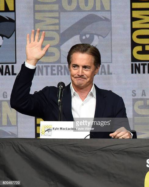 Actor Kyle MacLachlan speaks onstage at ComicCon International 2017 Twin Peaks A Damn Good Panel at San Diego Convention Center on July 21 2017 in...