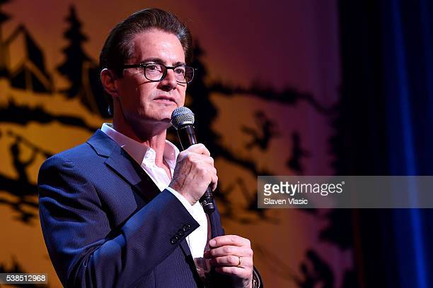 Actor Kyle MacLachlan speaks onstage during SeriousFun Children's Network 2016 NYC Gala Show on June 6 2016 in New York City