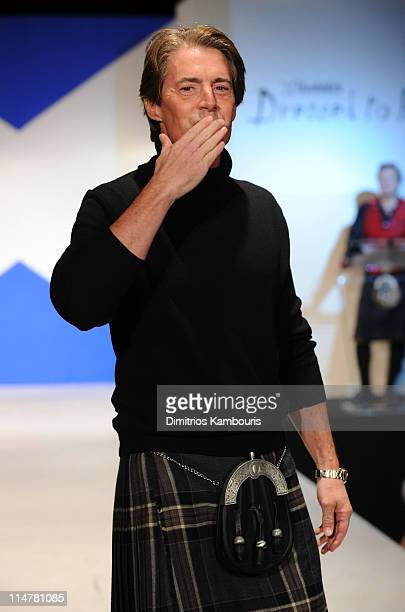Actor Kyle MacLachlan walks the runway at the 8th annual Dressed To Kilt Charity Fashion Show at M2 Ultra Lounge on April 5 2010 in New York City